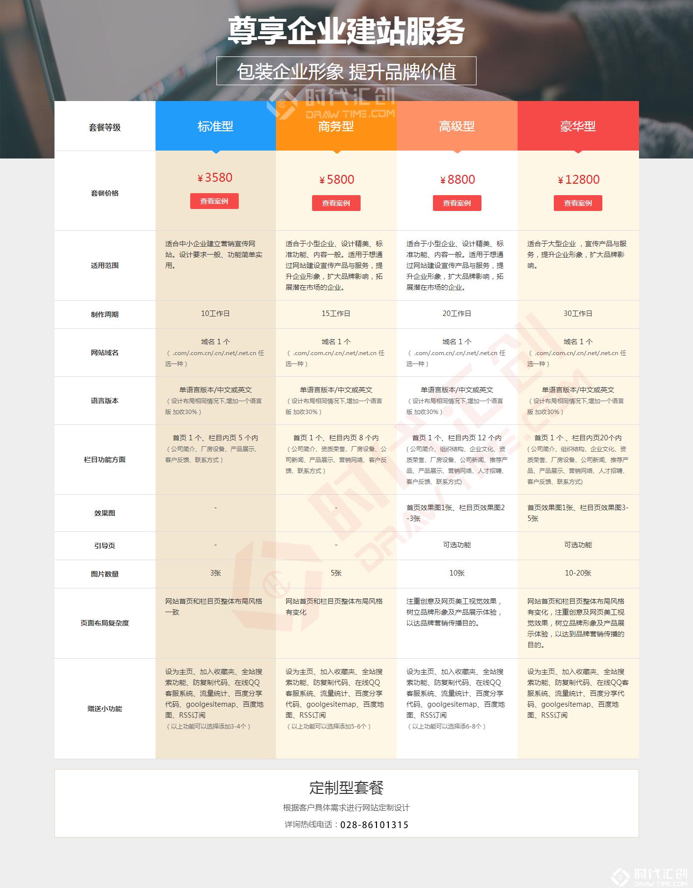 企业网站制作报价明细_成都网站建设明细报价表